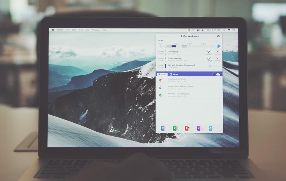 Microsoft's My Workspace is a productivity menu bar app for Mac