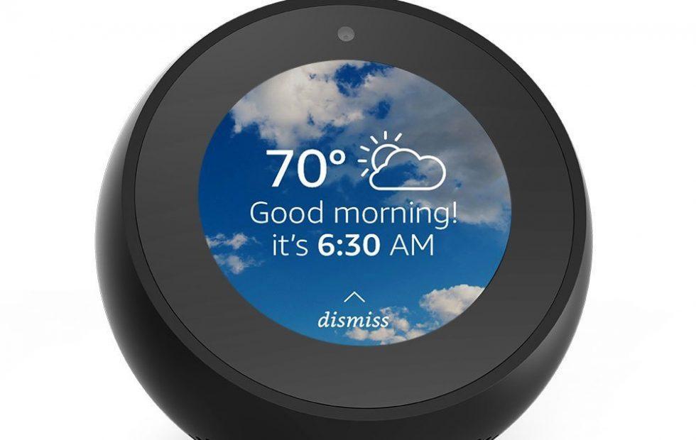 Amazon Echo Spot alarm clock is smart and semi-spherical