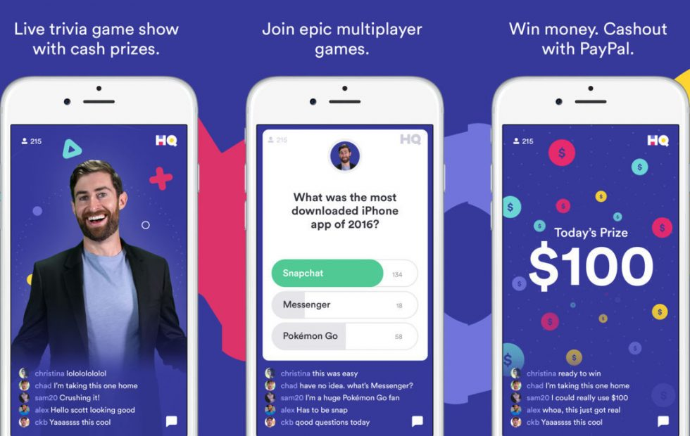 HQ is a live trivia game app from the makers of Vine