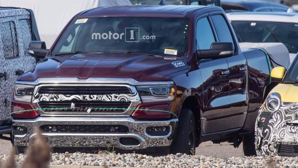 2019 Ram 1500 spied mostly uncovered