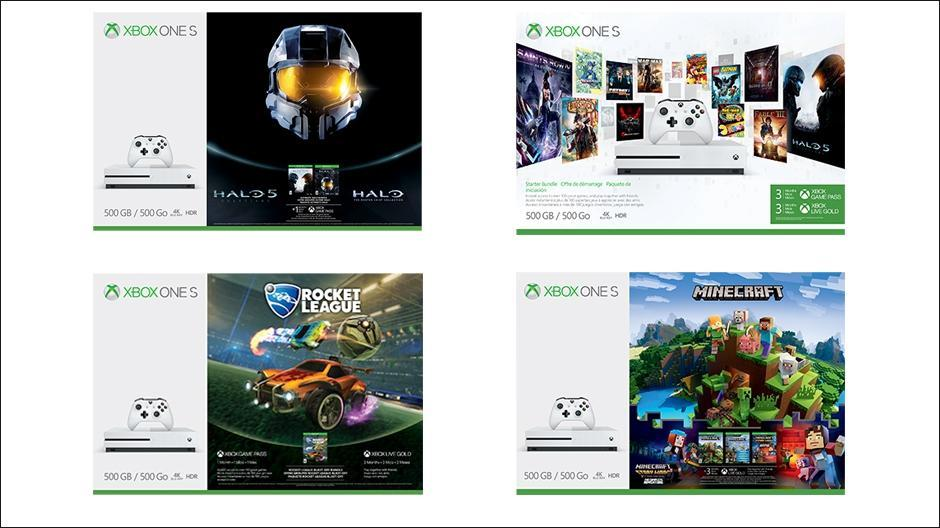 New Xbox One S bundles include Rocket League, Minecraft, and Halo