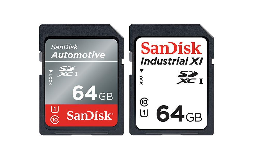SanDisk Automotive and Industrial SD cards can handle extreme temperatures