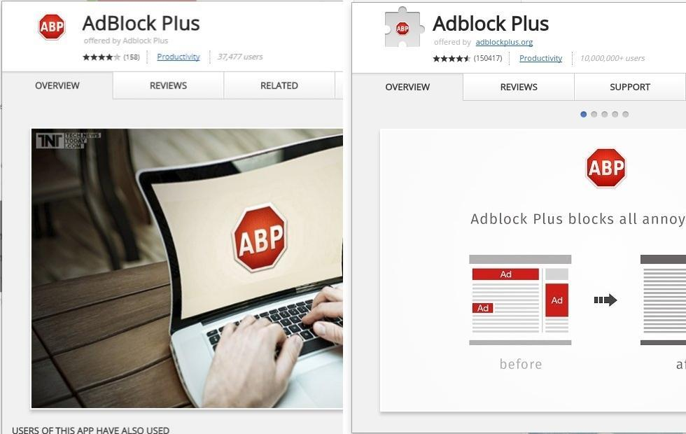 Fake Adblock Plus Chrome extension gets into official Web Store