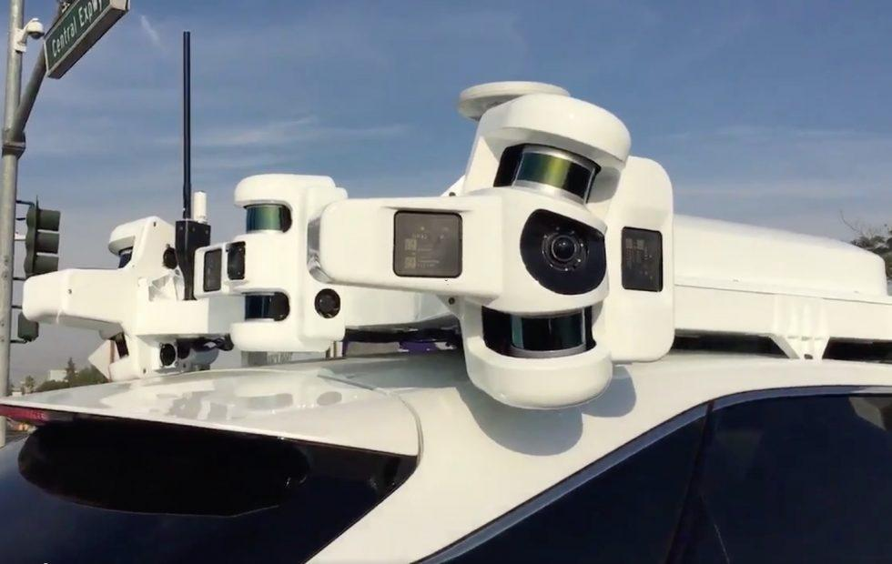 Apple's self-driving car tech just got caught on camera