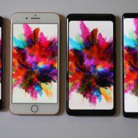 Pixel 2 XL screen problems VS iPhone 8 Plus, LG V30, Galaxy Note 8