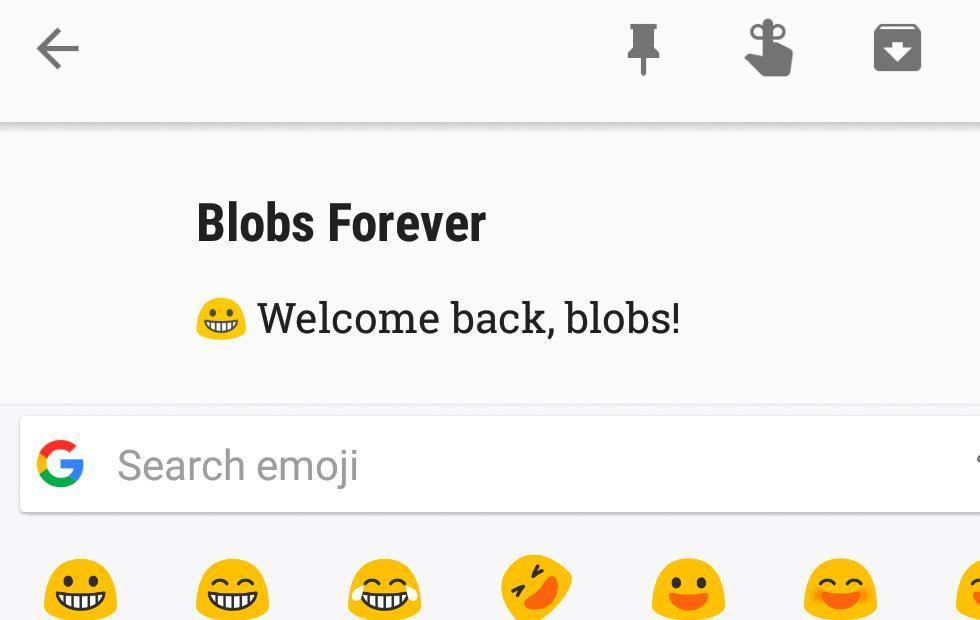 Google blob emojis download brings back cuteness
