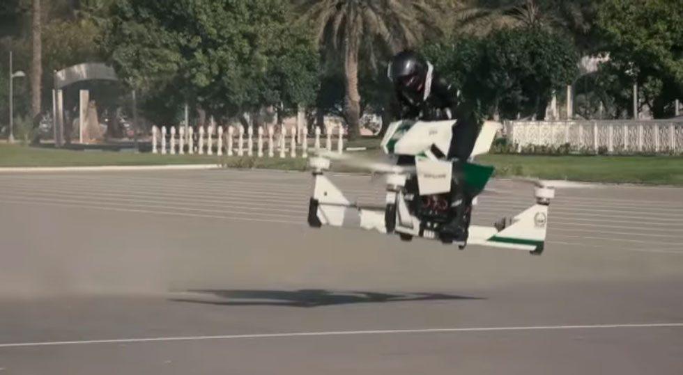 Dubai Police Take Delivery Of Hoverbike Flying Patrol Vehicle Slashgear