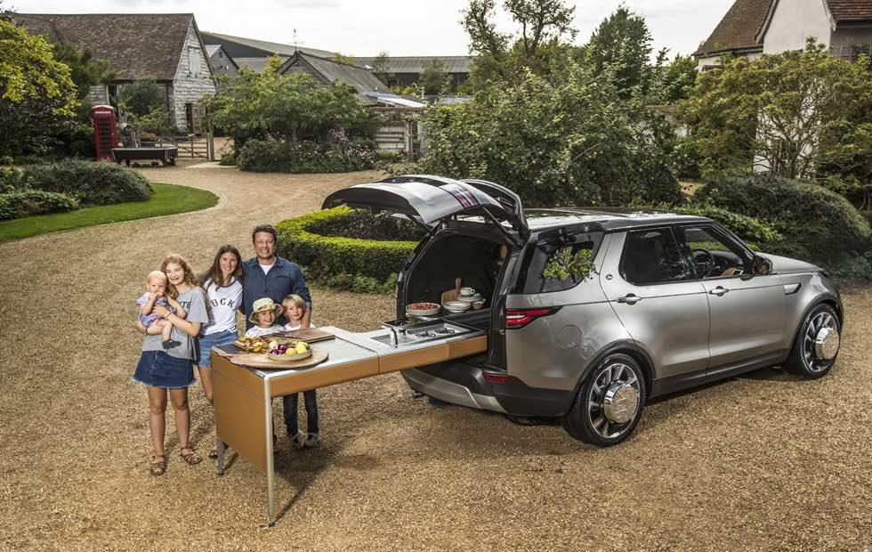 Land Rover Crams a Kitchen into a Discovery for Jamie Oliver