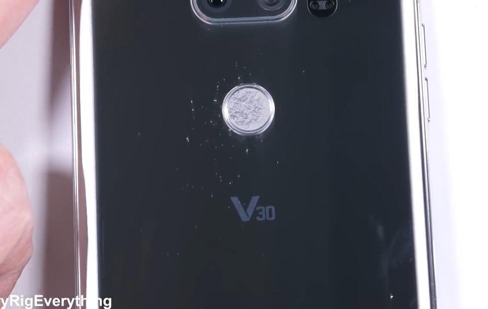 LG V30 fingerprint scanner fails when heavily scratched