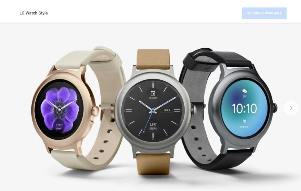 Android Wear gone from Google Store, only in-house hardware
