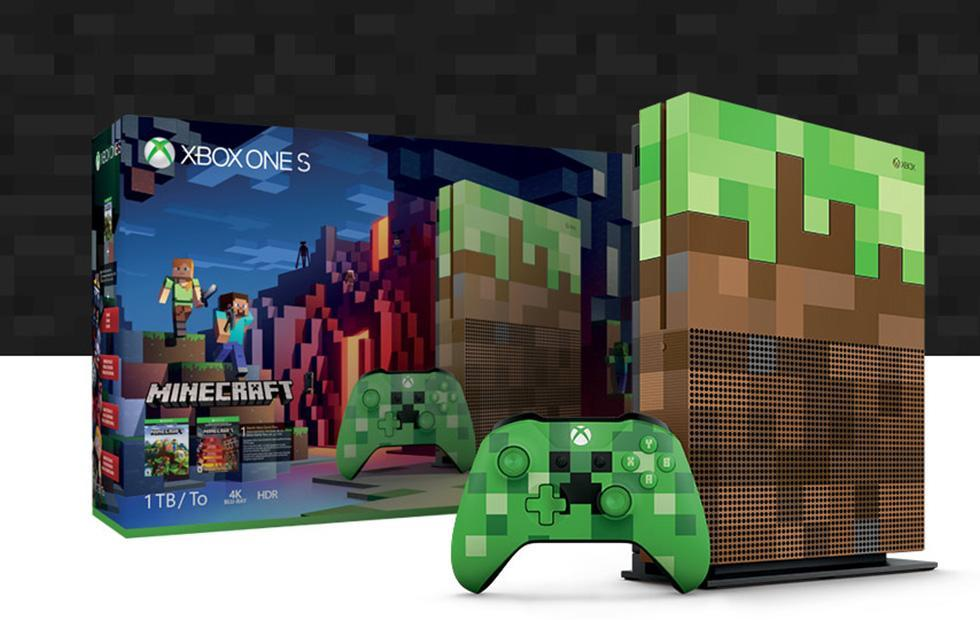 Xbox One S Minecraft Limited Edition bundle arrives: 1TB console, Creeper controller