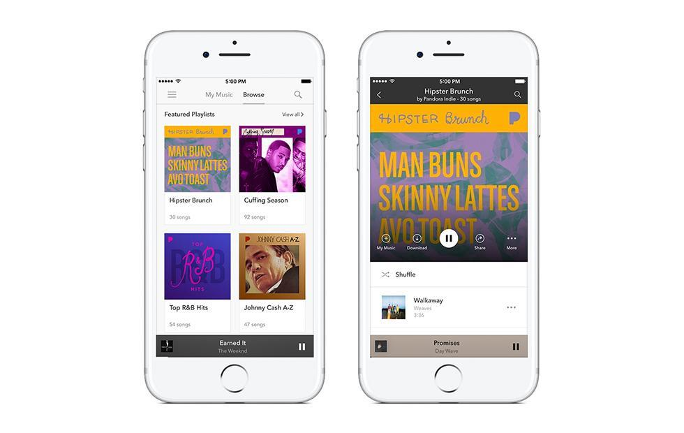 Pandora Featured Playlists give users Hipster Brunch and more