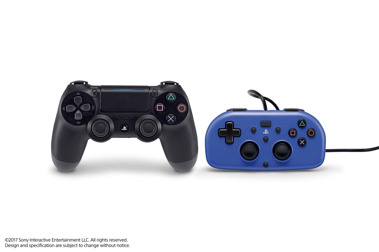 PS4 mini wired controllers coming to the US, parents