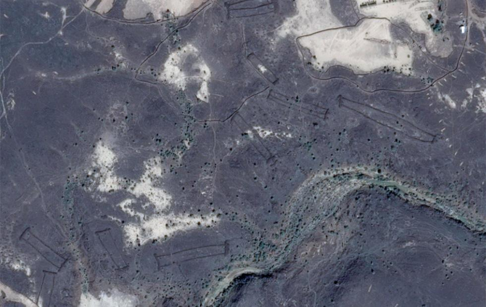 Ancient stone gates spied on Google Earth have experts confused