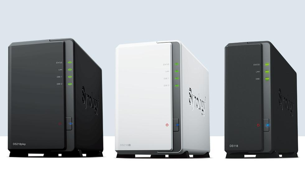 Synology DS218play, DS218j, DS118 launched for homes, small offices
