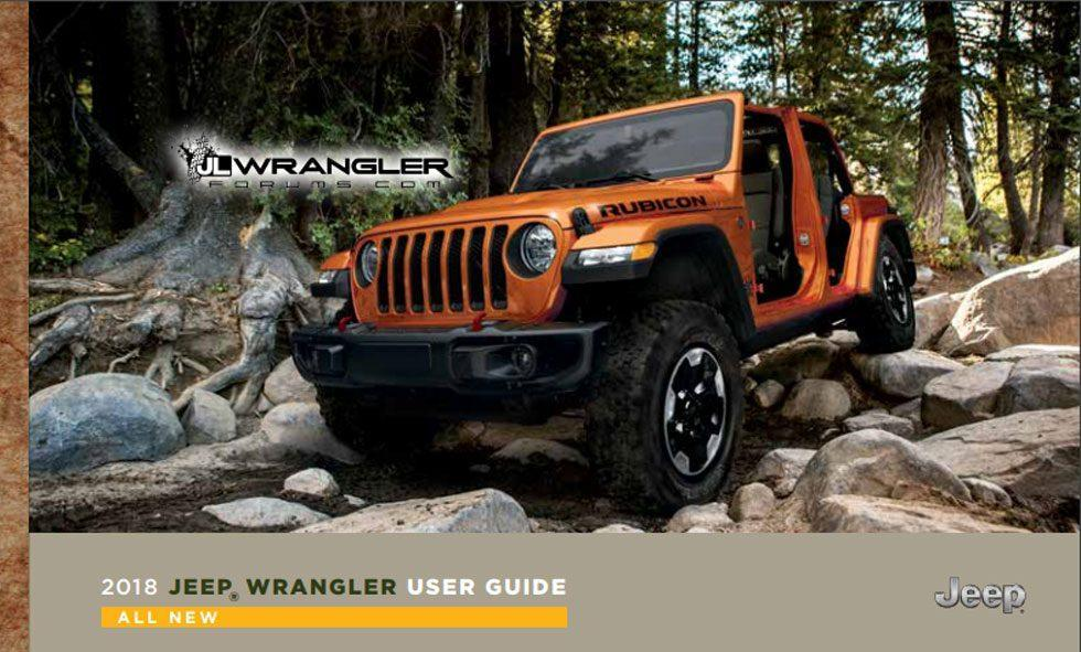 2018 Jeep Wrangler JL user guide and owner's manual leaks