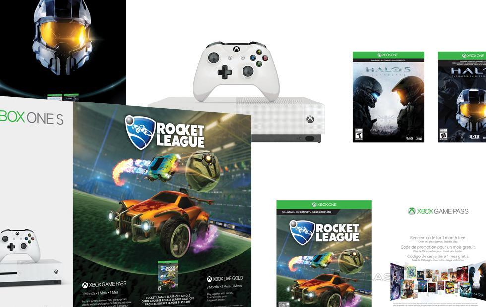 Pre-X Xbox One S bundles just popped up in WHITE