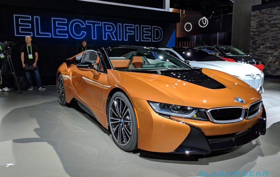 2019 Bmw I8 Roadster First Look Topless Hybrid Slashgear