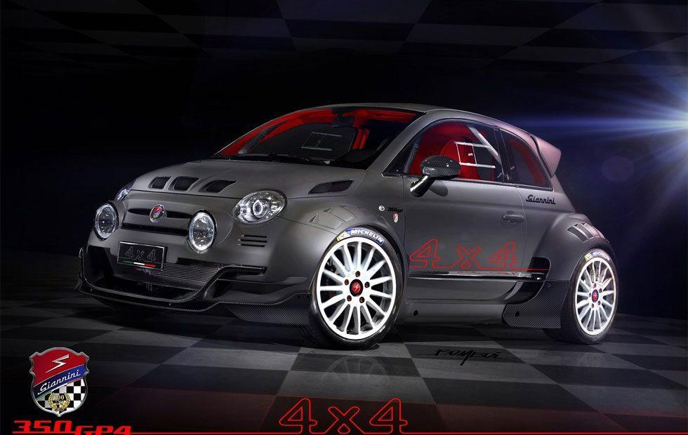Fiat 500 AWD 350hp racer is wickedly adorable