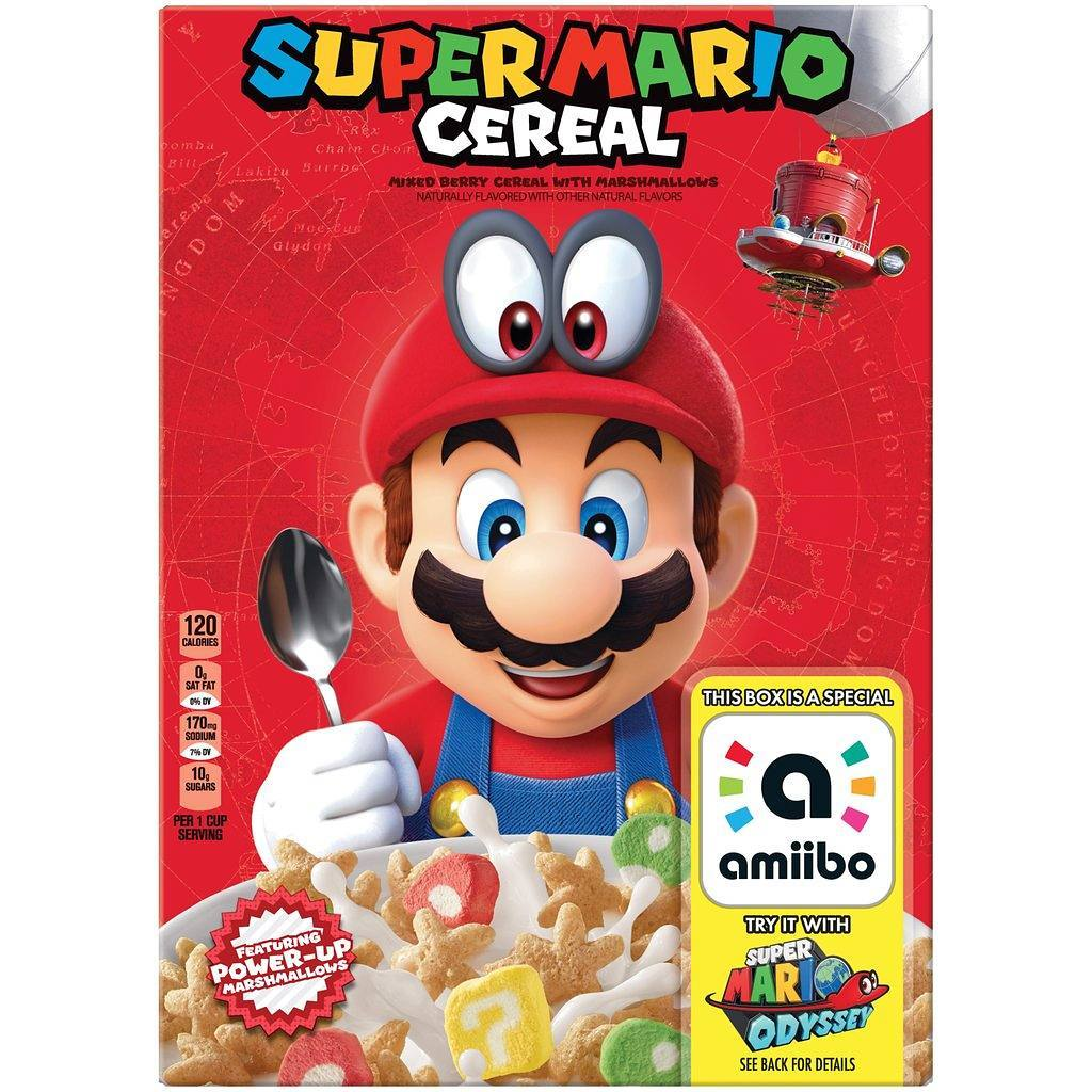 Super Mario cereal is a must-have for the amiibo-obsessed