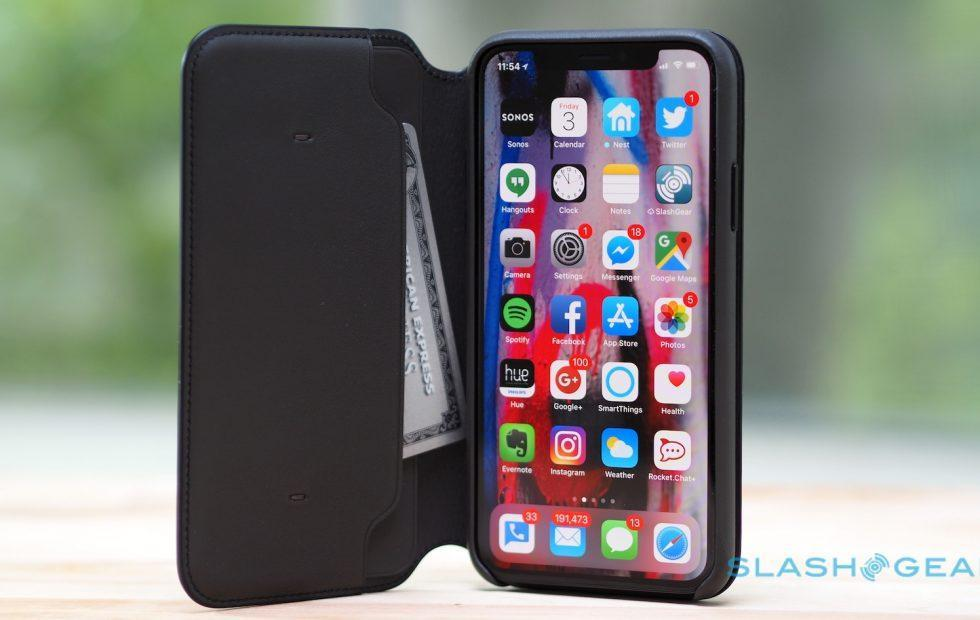 new product f4311 374fc Apple's iPhone X Leather Folio case is really slick - SlashGear