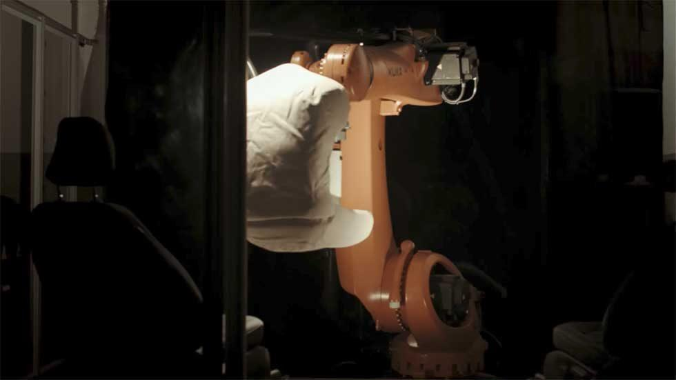 """Ford's seat testing robot butt is called """"Robutt"""""""