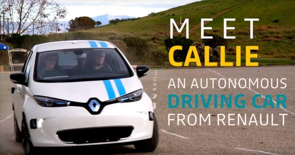 Renault Callie autonomous car can avoid obstacles as well as pro test drivers