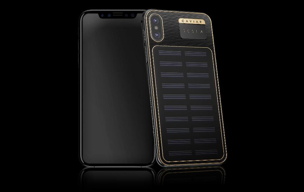Caviar iPhone X Tesla sacrifices beauty for solar charging