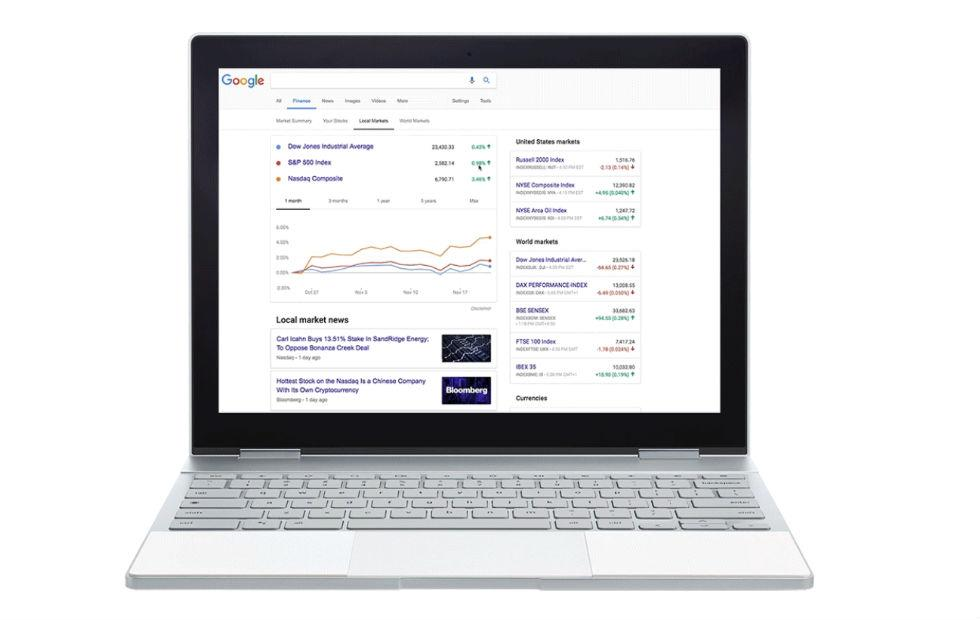Google Search gets a dedicated stocks and finance tab