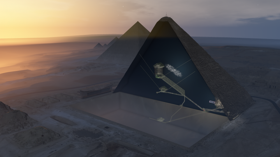 This huge void in the Great Pyramid is a new Egyptian mystery