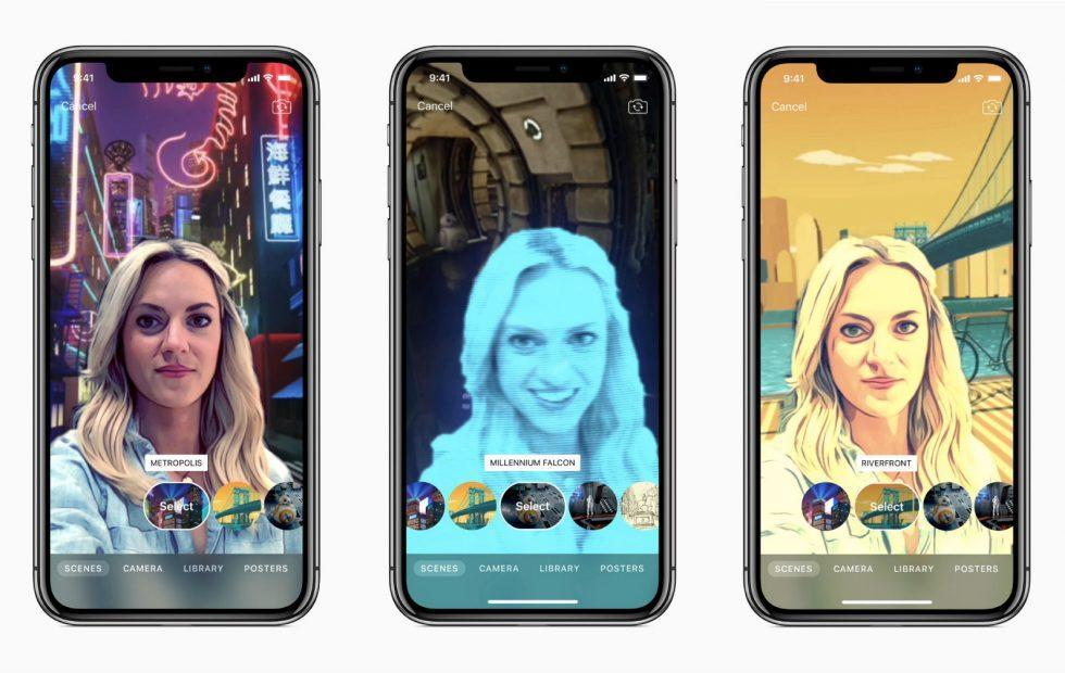 "Apple Clips 2.0 ""Selfie Scenes"" tap iPhone X and Star Wars"