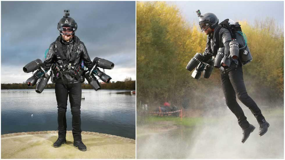 Real Life Iron Man sets world record for top speed with body-controlled jet suit