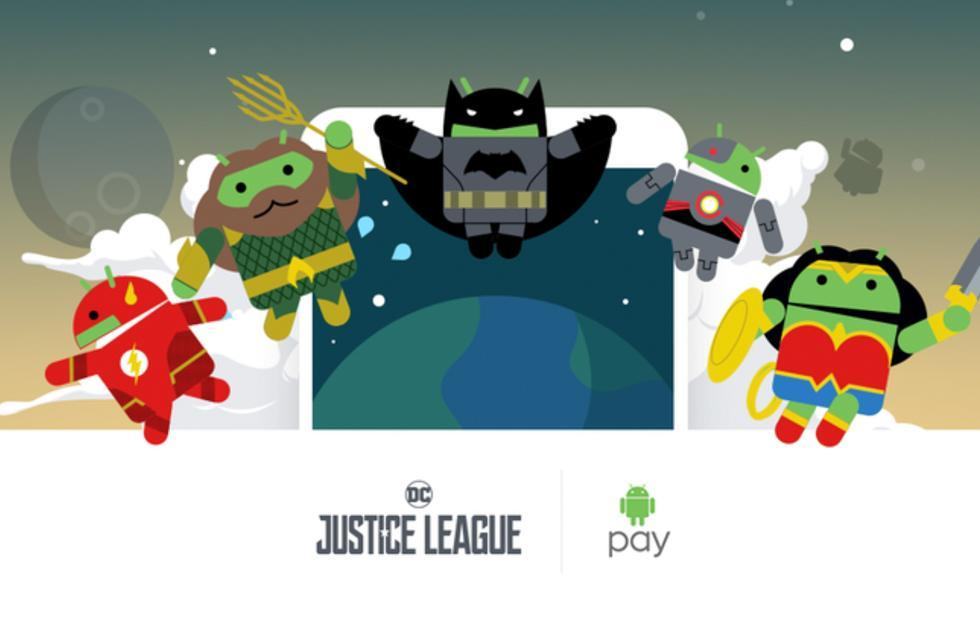 Android Pay incentivizes buying things with Justice League Androids