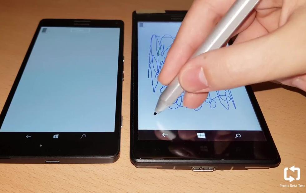 Windows Phone prototype shows working Surface Pen support