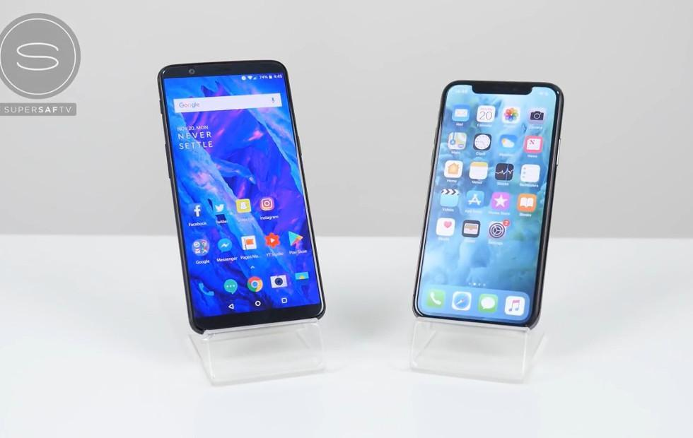 OnePlus 5T narrowly beats iPhone X in speed