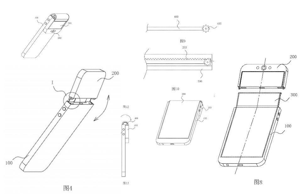 OPPO folding phone patent shows bizarre bendable selfie camera