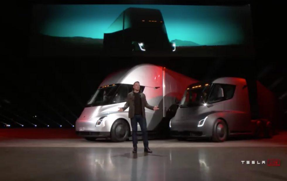 Tesla Semi revealed: 500 mile range and 0-60 mph in 5s