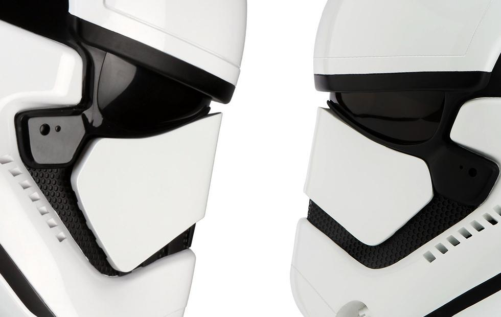 Stormtrooper helmet evolution: Force Awakens to The Last Jedi
