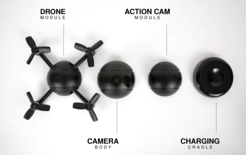 PITTA modular drone doubles as an action and security camera