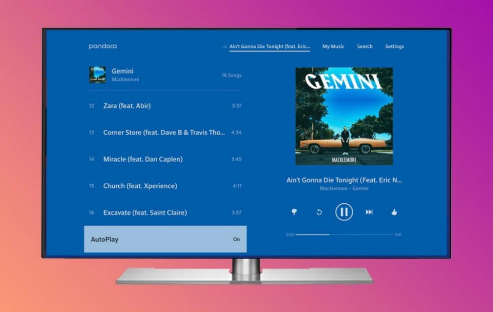 Pandora for Android TV updated with Premium plan support