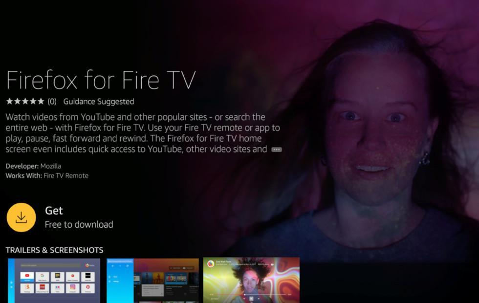 Firefox is now on Amazon Fire TV, can play YouTube