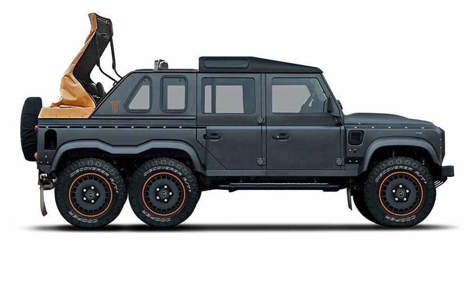 Khan Flying Huntsman soft-top six-wheeler is meant for production