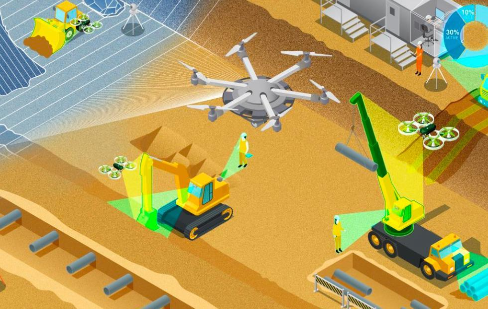 NVIDIA and Komatsu to bring AI to construction sites with drone surveillance
