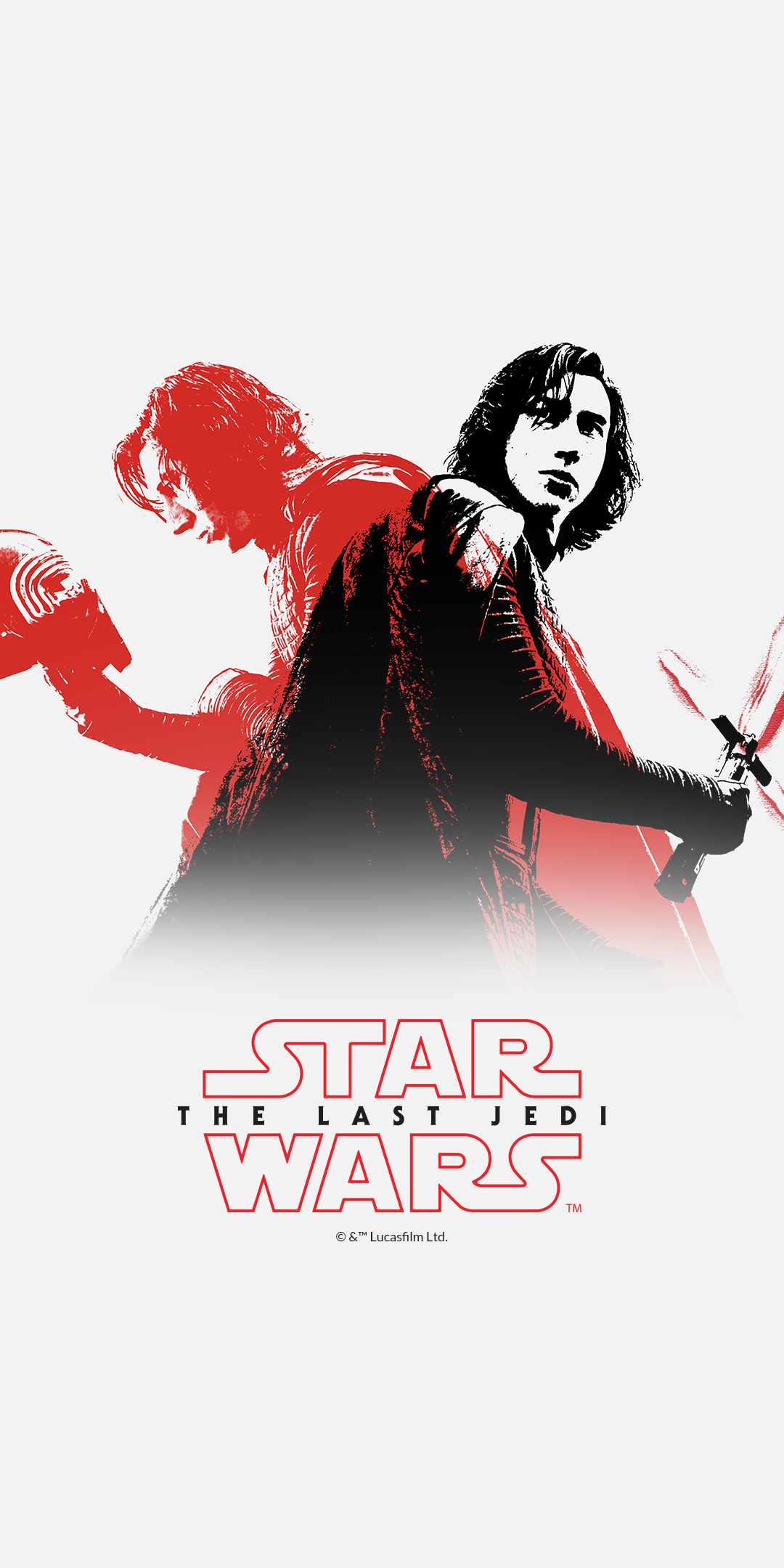 Feel free to download and go nuts with the placement on your smartphone device. The first wallpaper shows the Star Wars: The Last ...