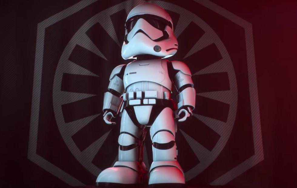 This Star Wars First Order Stormtrooper is an adorable home robot