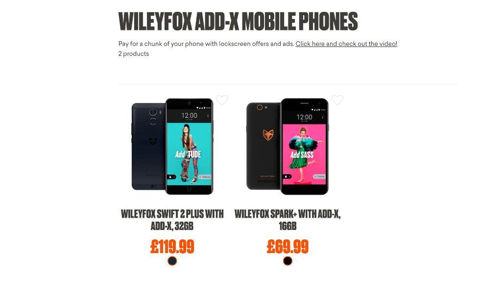 Wileyfox does an Amazon with Add-X ad-subsidized phones