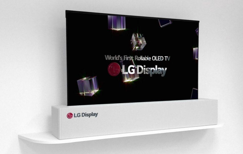 LG Display unveils 65-inch rollable 4K OLED TV