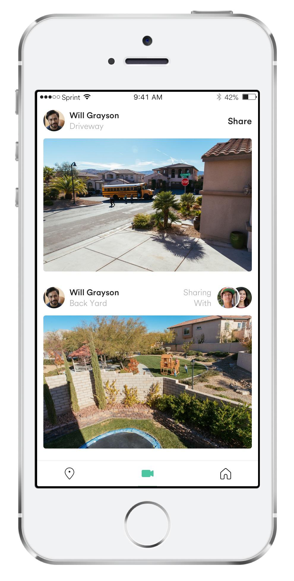 Vivint Streety is a neighborhood watch app of shared cameras