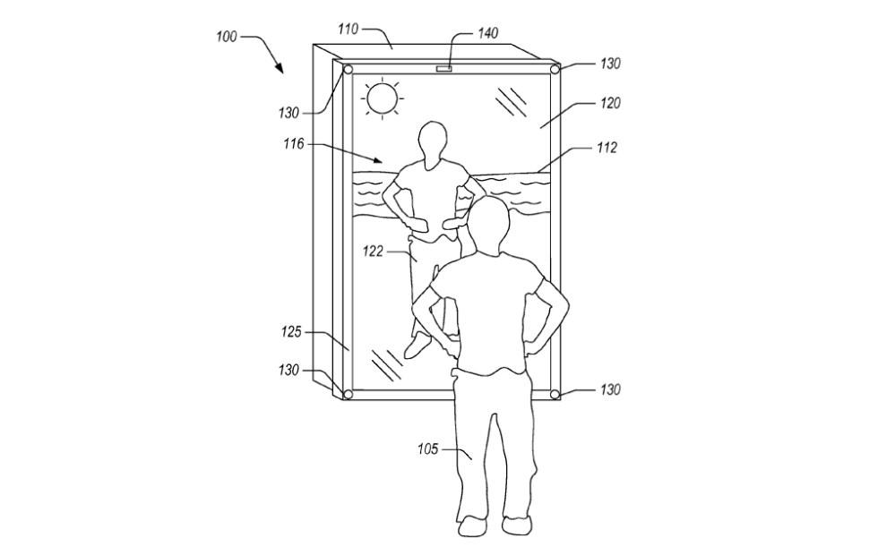 Amazon smart mirror patent details virtual clothing and scenes
