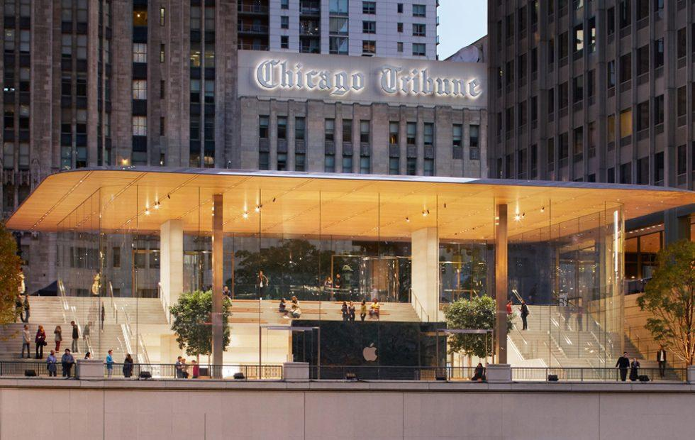 Apple blames software not design for Chicago store's ice problem